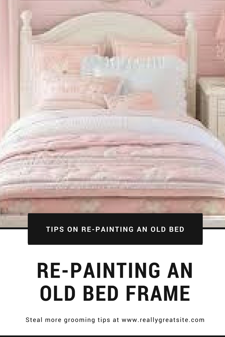 DIY Repainting and Re-purposing an Old Bed