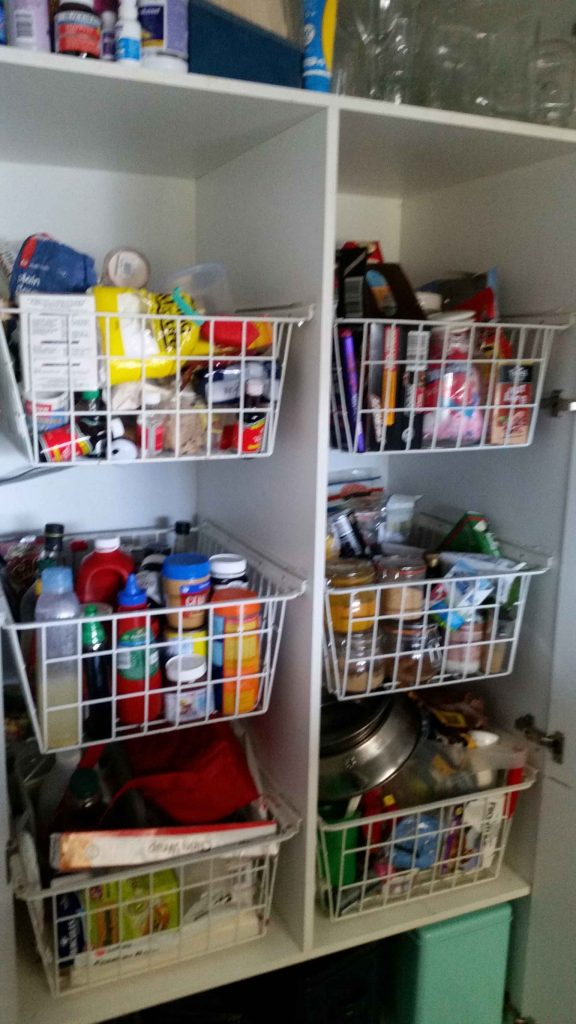 Kitchen organised - before the deep clean