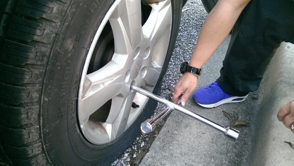 How to unlock and remove wheel nuts