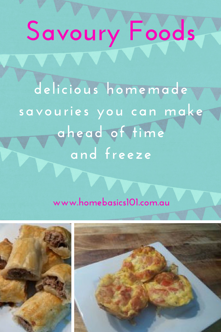 Freezable and make a head of time Savoury Recipes