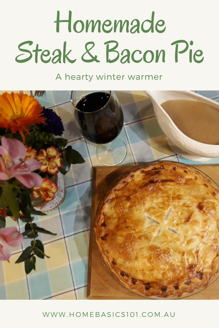 A Delicious, versatile recipe to feed your family, try the recipe or change it up to suit your own taste - Steak and Bacon Pie