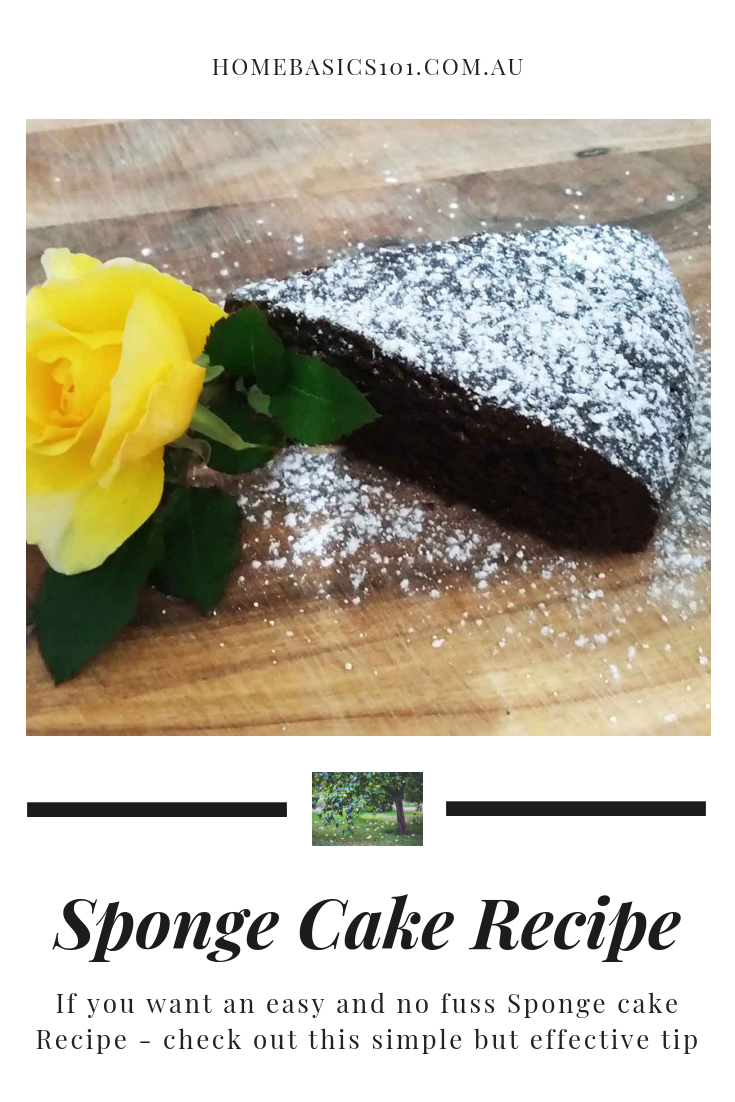 A back to basic recipe, this easy chocolate sponge cake recipe will be enjoyed by everyone and is simple and no fail every time