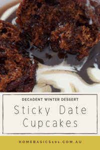 Sticky Date Cupcakes with Fudge Sauce