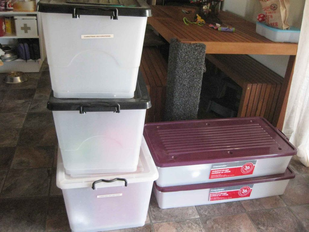 Storage Containers - storing decorations