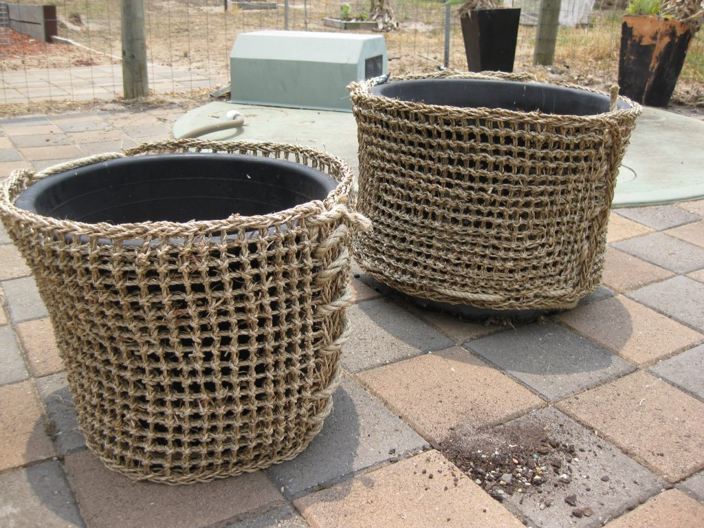 How to Decorate pots with Seagrass Mats