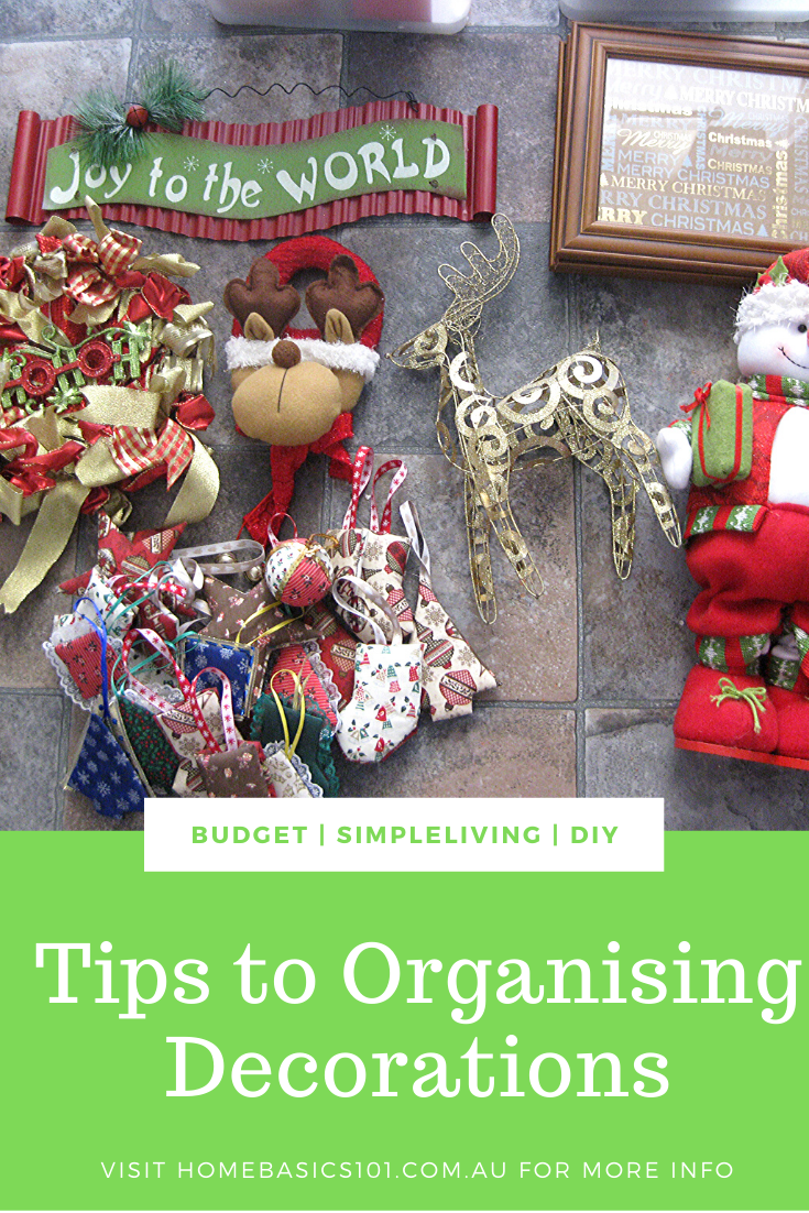 How to on How to sort and Organise your Christmas Decorations