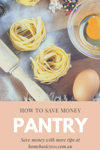 Save Money with Pantry Staples