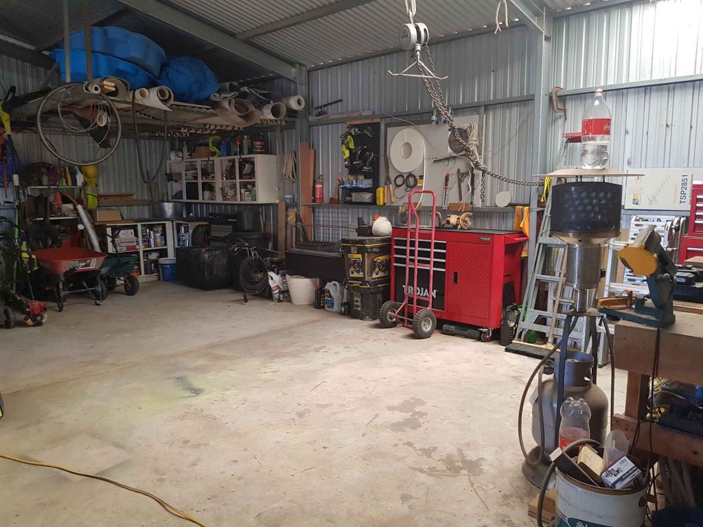 Organised Shed  - After Picture