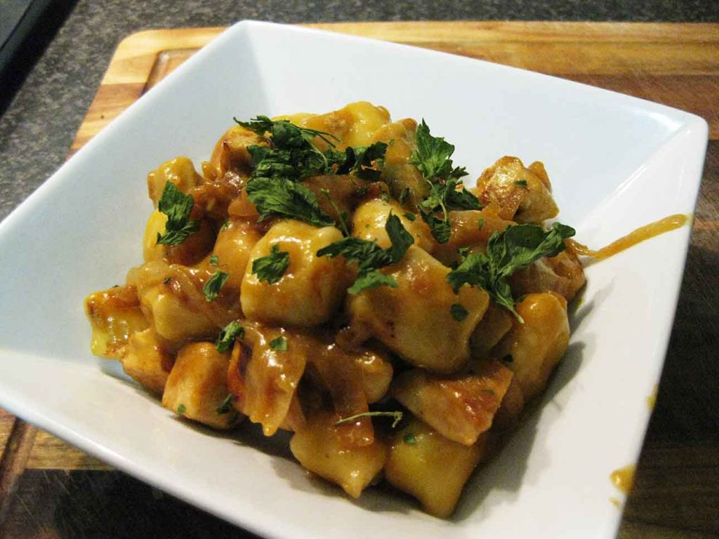 Gnocchi Recipe cooked and ready to eat