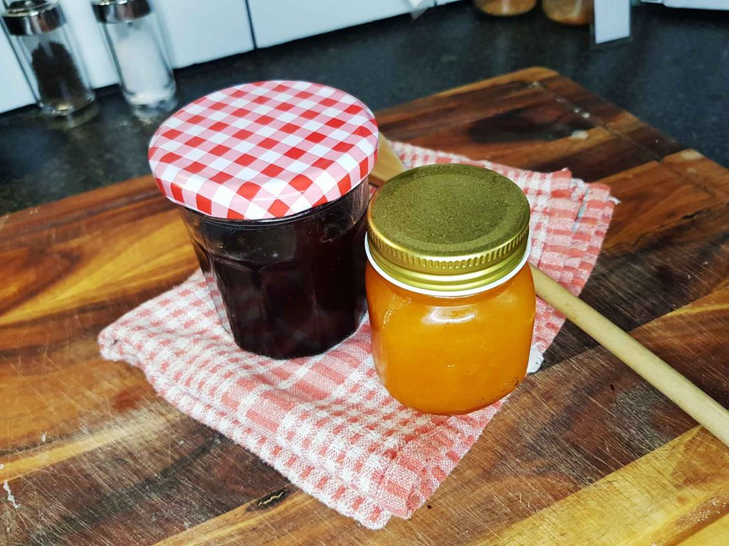 Blueberry and Apricot Homemade jam