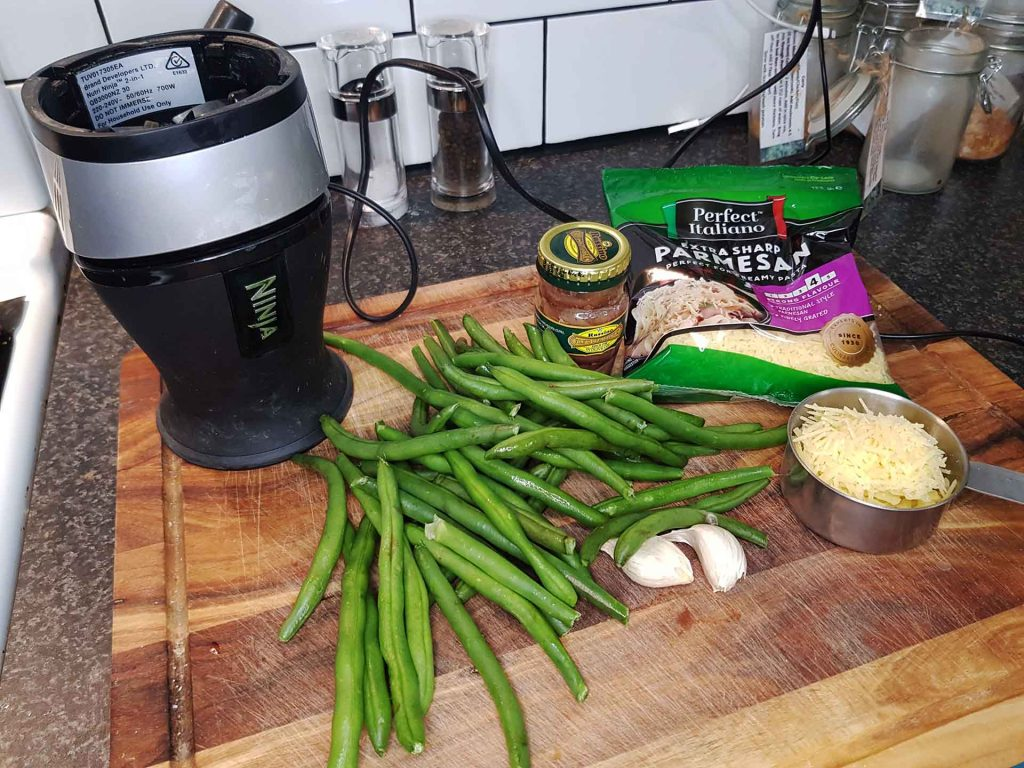 Simple way to use Broad Bean dip or pesto for that mid week pasta dish