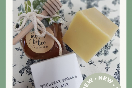 Reduce waste and single use plastics with great simple Bee's Wax Wraps